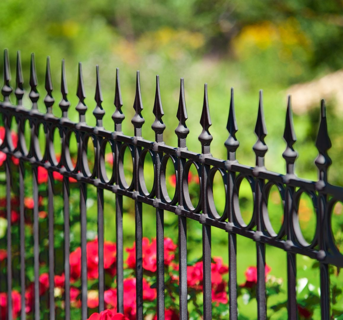 Iron Fence Toronto Circle Top Rail Fence Installation In Toronto