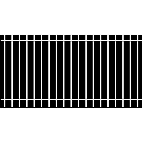Picket Single Rail Iron Fence