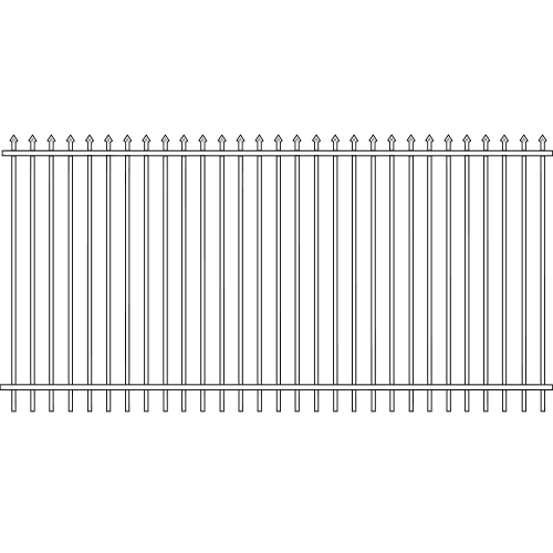 Spade Single Rail Iron Fence