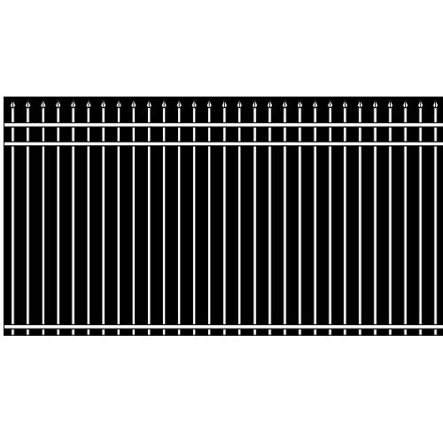 Spear Head Double Rail Iron Fence