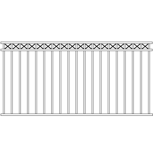 Standard Double Rail Iron Fence Cross Rail Accent