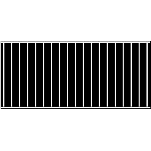 Standard Single Rail Iron Fence