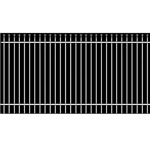 Traditional Single Rail picket Iron Fence